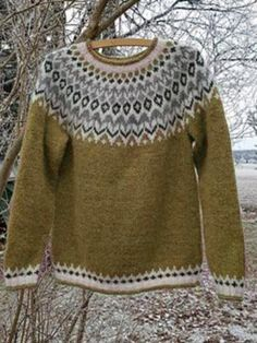 Soft Casual Plus Size Round Neck Sweater, Green / Fair Isle Pullover, Baby Pullover, Casual Sweaters, Blue Sweaters, Sweaters For Women, Icelandic Sweaters, Baby Leggings, Yellow Sweater, Long Sleeve Sweater
