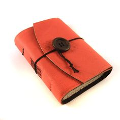Orange, Leather Journal, Notebook, Diary. $35.00, via Etsy.