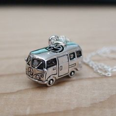 VW Bus Necklace - 925 Sterling Silver - Volkswagen Jewelry Bus Hippie Love *NEW* #FashionJunkie4Life #Charm