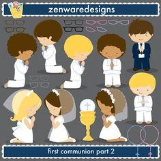 First Communion Clipart by ZenwareDesigns on Etsy