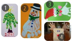 Preschool Christmas Crafts Made by Hand or Foot