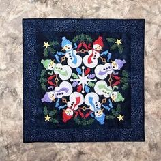 Silly Snowmen Applique Quilt Kit, Wall Hanging or Table Topper