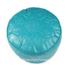 Moroccan Ronde Pouffe - Teal — Brown Paper Packages