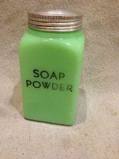 Vintage Original 1940's McKee Jadite - Glass Soap Powder Shaker Jadeite