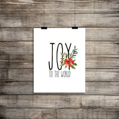 Joy to the World! Holiday Art Print  Welcome to PetrichorBlue and thank you for your interest in my prints and designs! If you have any questions