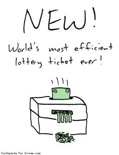 World's most efficient lottery ticket - Toothpaste for dinner #comics #funny