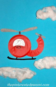 Cupcake Liner Helicopter | The Pinterested Parent