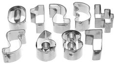 EOZY Kitchen Number Shaped Stainless Steel DIY Biscuit Moulds Set *** Startling review available here  : Small Pastry Molds