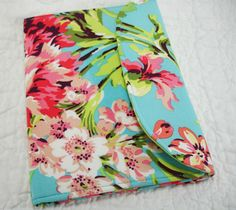 Amy Butler Pink and Blue Floral Kindle Cover
