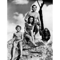 Johnny Weissmuller As Tarzan With Jane Boy And Cheetah Maureen O'sullivan, Tv Vintage, Vintage Movie Stars, Vintage Movies, Tarzan E Jane, Tarzan Movie, Classic Tv, Classic Films, Tarzan Johnny Weissmuller