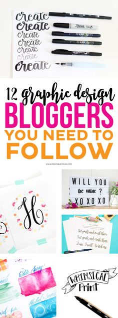 I've listed my FAVORITE Graphic Design Bloggers you need to follow this year. They cover everything from hand-lettering, to watercolors, and graphic design!
