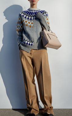 Patchwork Sweater by JOSEPH for Preorder on Moda Operandi Joseph Fashion, Sous Pull, Clothes Basket, Knitwear Fashion, Cardigan Pattern, Winter Sweaters, Knitting Designs, Refashion, Latest Fashion Trends