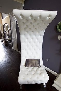 White Tufted Leather - Uniquely Designed