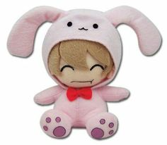 """From the popular anime series Ouran High School Host Club comes this new series of collectible plush! This 6 inch plush depicts Mitsukuni """"Honey"""" Haninozuka dress up as his pink stuffed rabbit! Pin Up, Ouran Host Club, Ouran Highschool, Bunny Costume, High School Host Club, Anime Nerd, Honey Bunny, Thing 1, Popular Anime"""