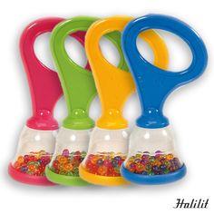 70366/36 Display baby maracas HALILIT Especialmente diseñadas para utilizar como sonajero para los bebés. De vivos colores y sonido agradable. Display 36 piezas. Medidas: 10,8 cm