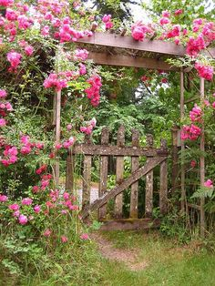 by the old wooden gate...