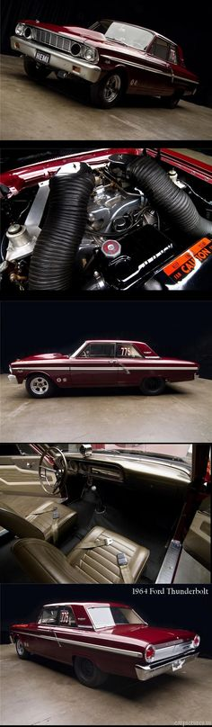 1964 Ford Thunderbolt w/ 427 V8 Cars, Drag Cars, Ford Fairlane, F100, Hot Rods, Mustang, 1964 Ford, Car Pictures, 911 Photos