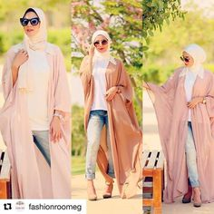 blush and nudes abaya style- How to style your Abaya cardigan for Ramadan http://www.justtrendygirls.com/how-to-style-your-abaya-cardigan-for-ramadan/