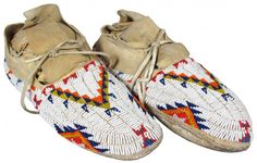 Cheyenne Native American Beaded Moccasins