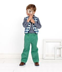 https://flic.kr/p/fT6RSG | Oliver + S Art Museum Vest and Trousers sewing pattern