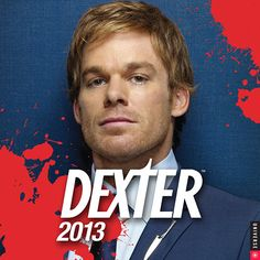 Dexter Wall Calendar: Dexter, returning for a sixth season, stars Michael C. Hall in his Golden Globe—and Screen Actors Guild Award-winning role as Dexter Morgan, a complicated and conflicted blood-spatter expert for the Miami police department who moonlights as a serial killer.  $13.99  http://calendars.com/Drama-TV/Dexter-2013-Wall-Calendar/prod201300003542/?categoryId=cat00066=cat00066#