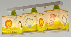 Kinderzimmer Plastik Deckenlampe Little Zoo Deckenlampe 3-Flammige gelb Hängela