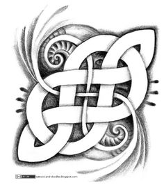A kind of infinite symbol, celtic style. Mixed with an attempt at a bio effect (failed :p). I don't know if I prefer it that way or vertical...