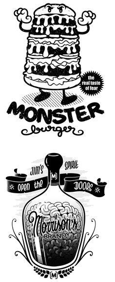 Illustrations by John Duvengar | Inspiration Grid | Design Inspiration