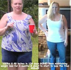 100 pounds lost in 104 days ... how awesome is that ..  https://www.omnitrition.com/jmontana