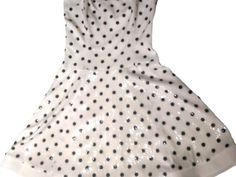 Destination wedding, resort wear, wedding shower Stunning dress, White and Navy. Only worn Stunning Dresses, Elegant Dresses, Elegant Outfit, Wedding Wear, Resort Wear, Polka Dots, Women Wear, Sequins, Bridal