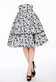 Retro High Waist Circle Skirt  by Amber Middaugh