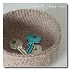 HEKLET KURV – Gratis oppskrift | www.HELdesign.com