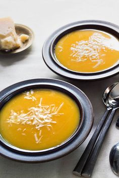 NYT Cooking: This simple, creamy (but not cream-laden) butternut squash soup gets greater depth of flavor from sherry that is stirred in with the stock. If you'd rather not use sherry or don't have it on hand, omit it and use an additional 1/2 cup of stock