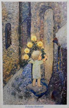 MILI WEBER - Kleiner ENGEL mit WEIHNACHTSBÄUMCHEN - 1927