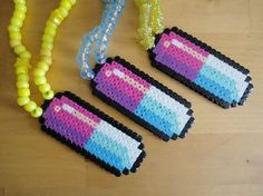Tight+Crew+pixel+necklace+by+RaveSafe+on+Etsy,+$10.00