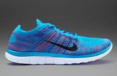 Nike Free Flyknit - Blue Lagoon/ Bright Crimson/Gym Royal/White - 631053-403