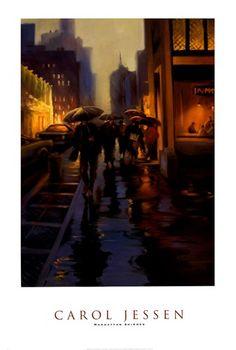 42 Delightful Carol Jessen Images Framed Artwork Rain