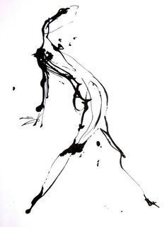 Original Abstract Human Figure Ink Drawing 85 by JBsFineArtGallery, $30.00                                                                                                                                                                                 More