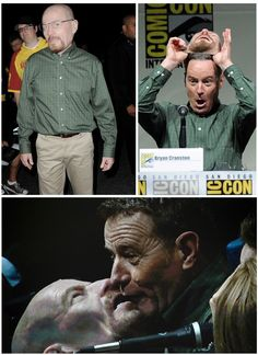 """""""Breaking Bad's"""" Bryan Cranston goes to Comic-Con dressed as """"Breaking Bad's"""" Walter White."""