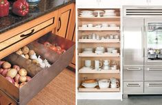 11 smart storage solutions you wished you had in your kitchen - Comfortable home Soul Design, Smart Storage, New Kitchen, Kitchen Ideas, Kitchen Organization, Storage Solutions, Bathroom Medicine Cabinet, Tiny House, Interior Design