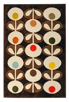 Heal's | Orla Kiely Oval Flowers Rug Brown - Rugs - Rugs - Living Room