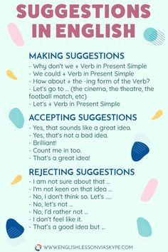 Making Suggestions in English - How about. : How to Make Suggestions in English. How to Reject Suggestions. Increase your vocabulary. English Grammar Worksheets, Learn English Grammar, English Writing Skills, English Vocabulary Words, Learn English Words, English Idioms, English Phrases, English Language Learning, Teaching English