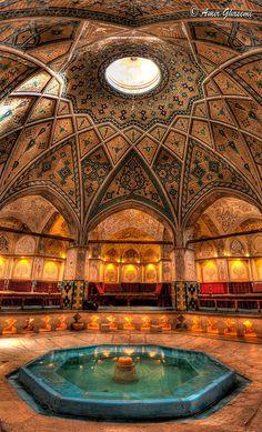 Iranian Bath House - places, travel and &tc lugares, viagens e &tc - Architecture Persian Architecture, Beautiful Architecture, Beautiful Buildings, Art And Architecture, Beautiful Places, Historical Architecture, Places To Travel, Places To See, Iran Travel