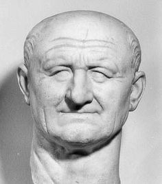 Marble bust of Vespasian (69-79AD).