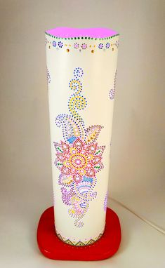 "The night lamp ""Flower of the mandala"" Table lamp Desk lamp Night light Bedroom light Nursery lamp Baby Night Light Decor Light Box Lighting. Bedroom Lamps, Bedroom Lighting, Light Bedroom, Baby Night Light, Led Night Light, Pvc Pipe Crafts, Diy Crafts, Creative Lamps, Table Lamp"