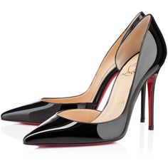 Christian Louboutin Iriza (2460 QAR) ❤ liked on Polyvore featuring shoes, pumps, heels, christian louboutin, louboutin, black, black shoes, sexy high heel shoes, high heel shoes and sexy pumps