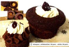 Fekete erdő muffin és mini tortácska Hungarian Recipes, Hungarian Food, Muffin, Minion, Ale, Cheesecake, Cupcakes, Yummy Food, Dishes