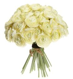 Sia Ranunculus, 12 Bundles of 6, Cream Yellow. Sia products are designed in France to be cutting edge yet fit every décor Botanically correct, these cream ranunculus flowers look and feel life-like Set of 12 stems with 6 blossoms each; each stem measuring 10.5-inches tall Durable, patented fabric allows flowers to retain their fresh appearance, even after arranging time and again
