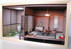 Miniature Japanese Roombox, by Furuhashi Isako, Miniature Artisan. Please see link for a few more pics.