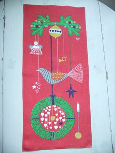 Vintage Swedish 1960s Great wall hanging by annchristinljungberg
